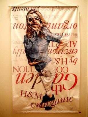 Advertisement remix of sewn fabric